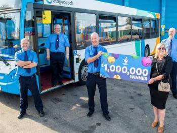 Водители автобуса выиграли 1,1 млн евро в лотерею